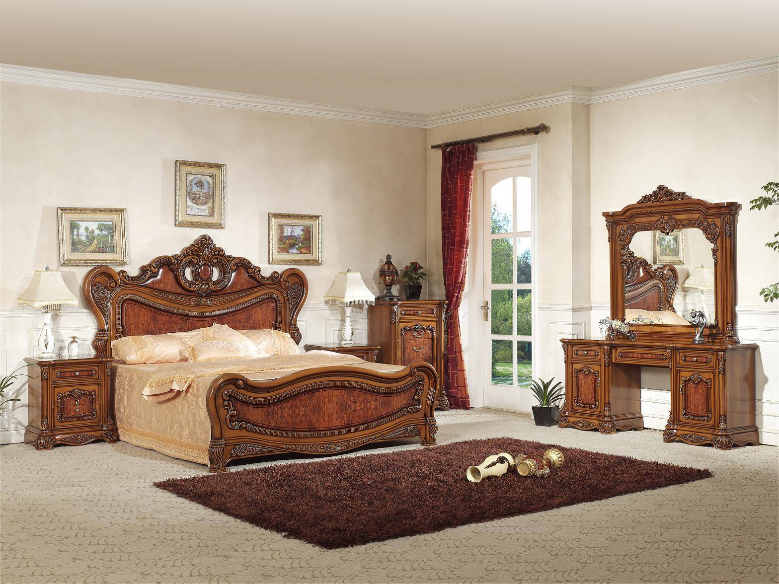 Spanish style bedroom furniture foshan shunde excellence for Spanish style bedroom