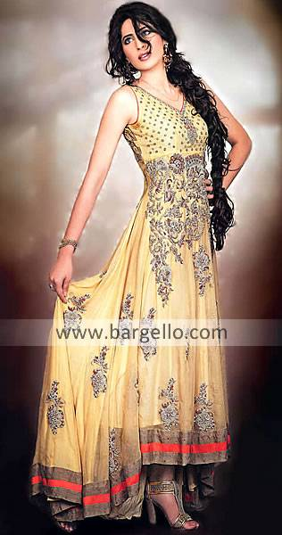 Bollywood traditional indian designer anarkali suit for Anarkali indian cuisine