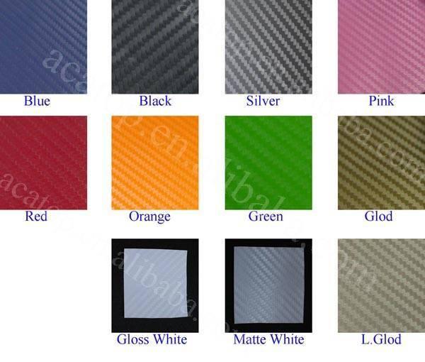 Colourful carbon fiber vinyl wrap for car sticker autos - Plan de travail de couleur ...