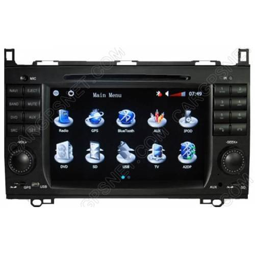Mercedes c class w203 gps navigation dvd radio player head for Mercedes benz c300 sound system