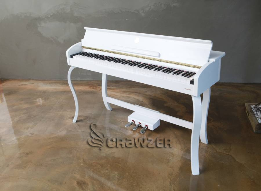 crawzer upright digital piano a3 white qingdao kdy digital piano co ltd. Black Bedroom Furniture Sets. Home Design Ideas