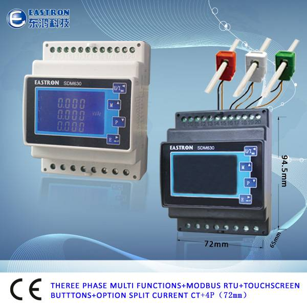 3 Phase Power Monitor : Three phase energy meter power monitor ce