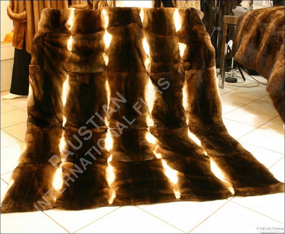 368 Rex Rabbit Fur Blanket Rug Throw Меховое п