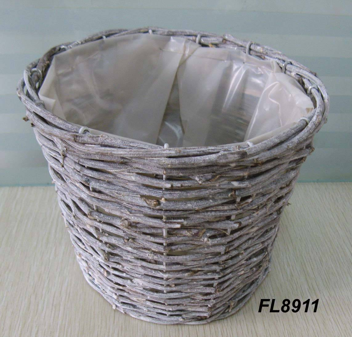 Rattan Flower Baskets : Rattan flower pot fl new garden basket fence factory