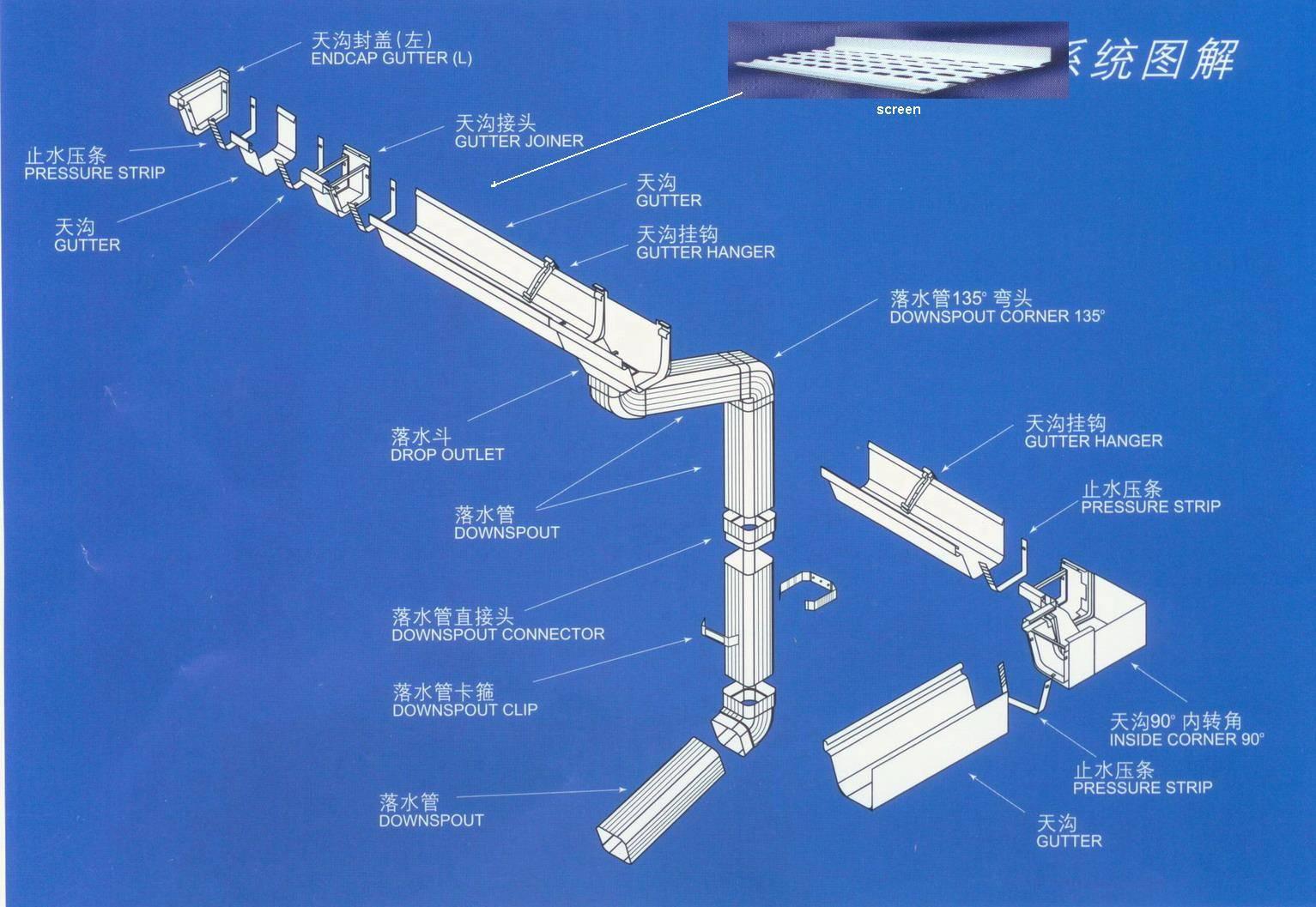 Pvc Rain Gutter System Shanghai Dofiberone Composites Co