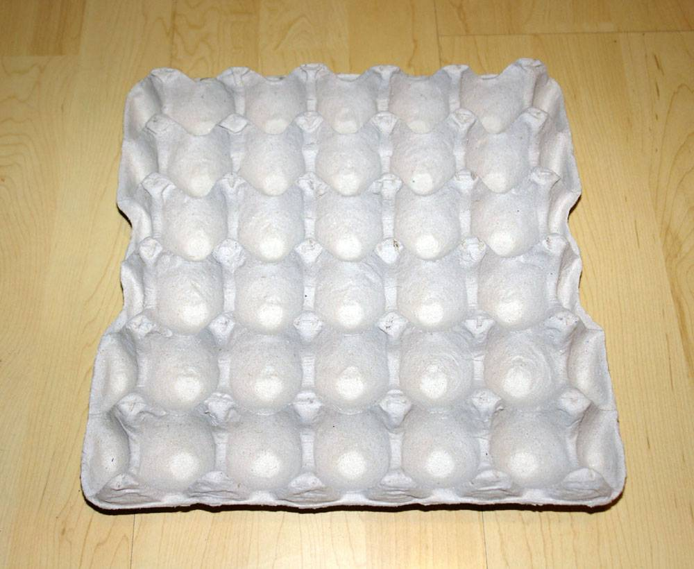 Paper pulp egg tray for 20 30 eggs shanghai hunteen for How to make paper egg trays