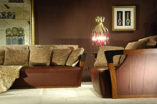 High end designer furniture genuine leather living room for Formal leather living room furniture