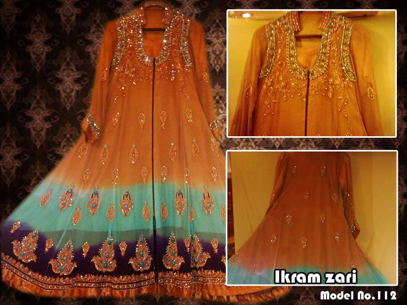 ladies fancy boutique style dress ikram zari