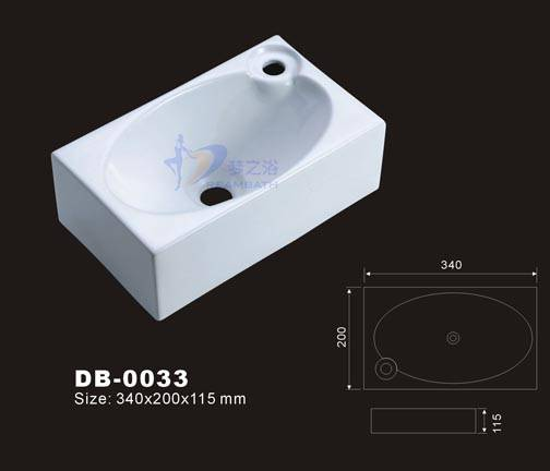 Tiny bathroom sink small sink foshan dreambath for Tiny bathroom sink