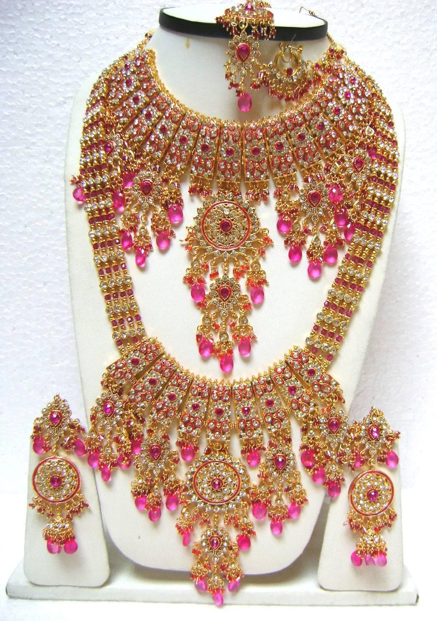 American Diamond Jewelry Sarees Partywear Kundan Necklace