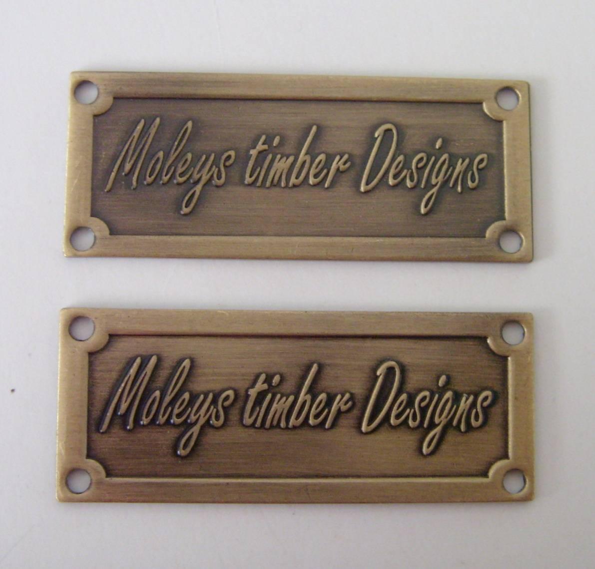 furniture label metal label lihao badge crafts factory