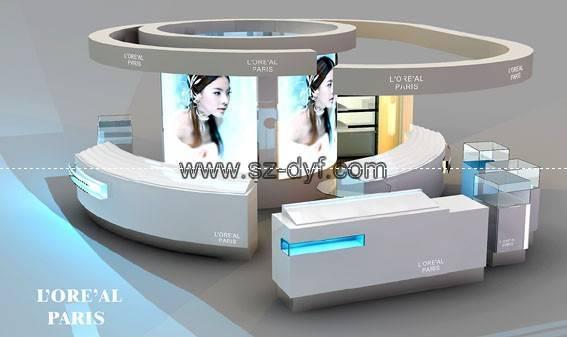 Exhibition Stand Cosmetics : Cosmetics display showcase kiosk stand shenzhen
