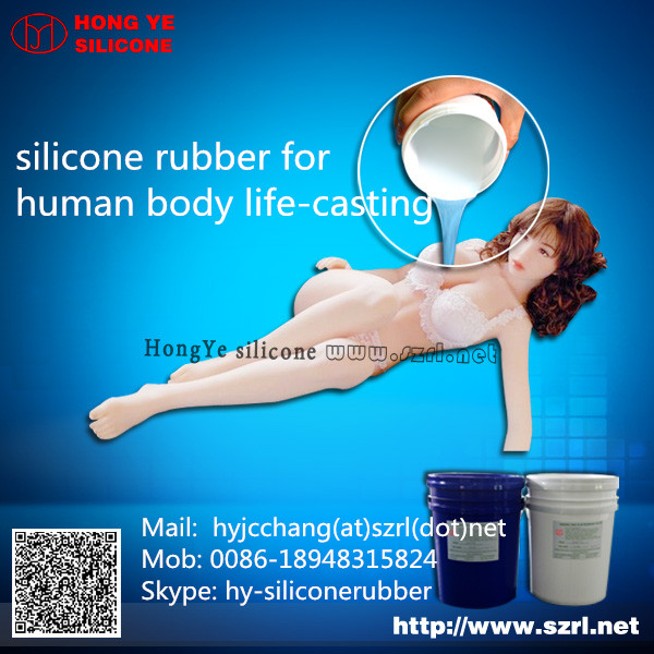 silicone latex body Making parts rubber