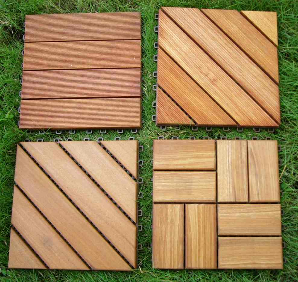 Deck tiles wood decking garden furniture wood flooring for Garden decking squares
