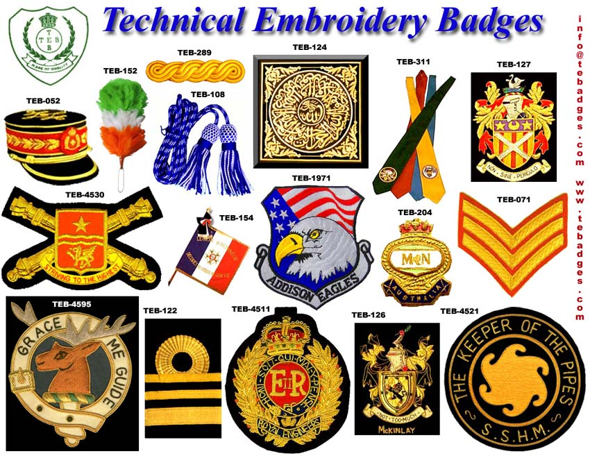 HAND EMBROIDERY BADGES IMPORTERS  EMBROIDERY DESIGNS