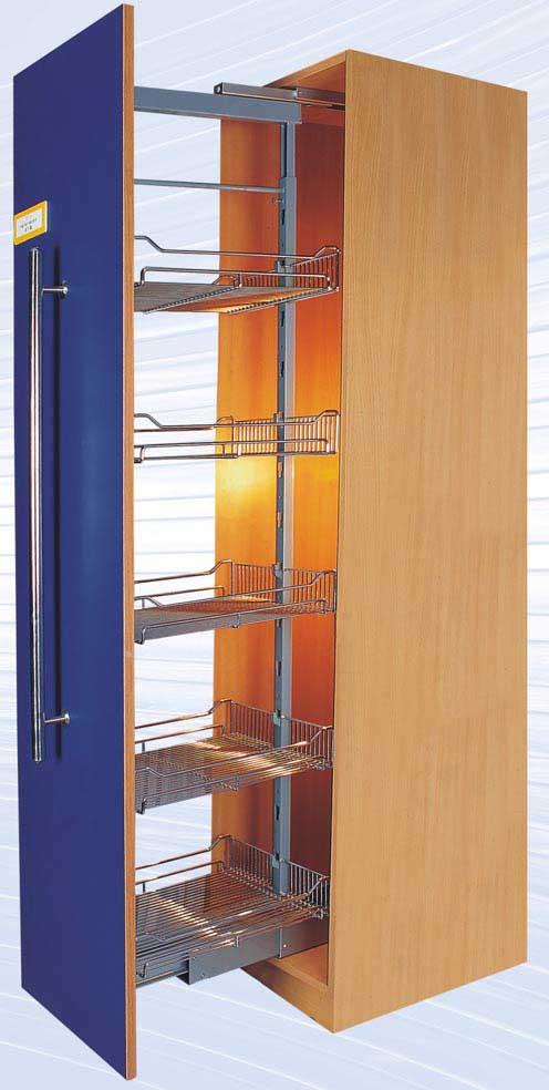 Pantry larder unit diy cabinet kitchen pantry cabinet for Tall kitchen drawer unit