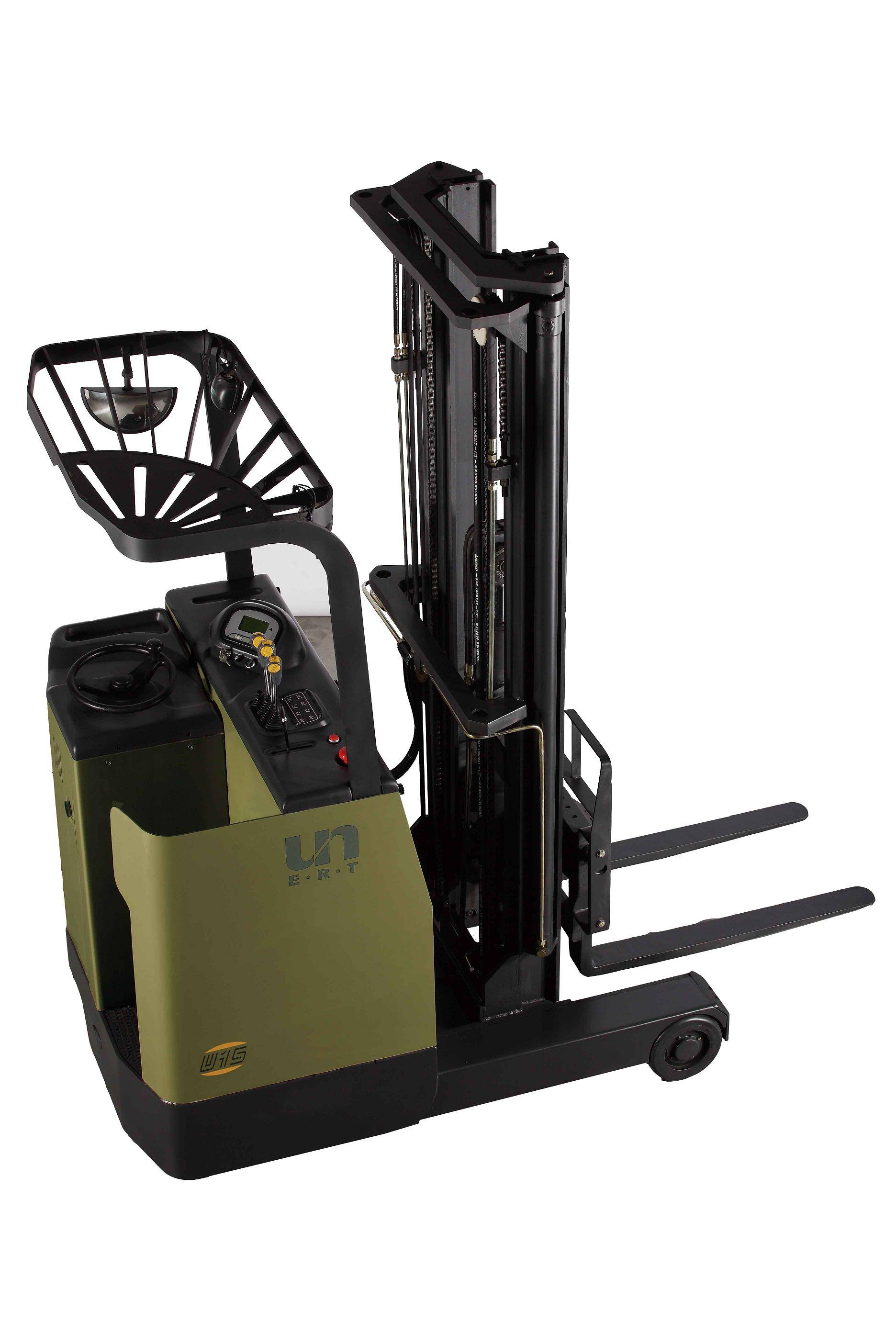Stand on reach truck zhejiang un forklift co ltd for Un stand