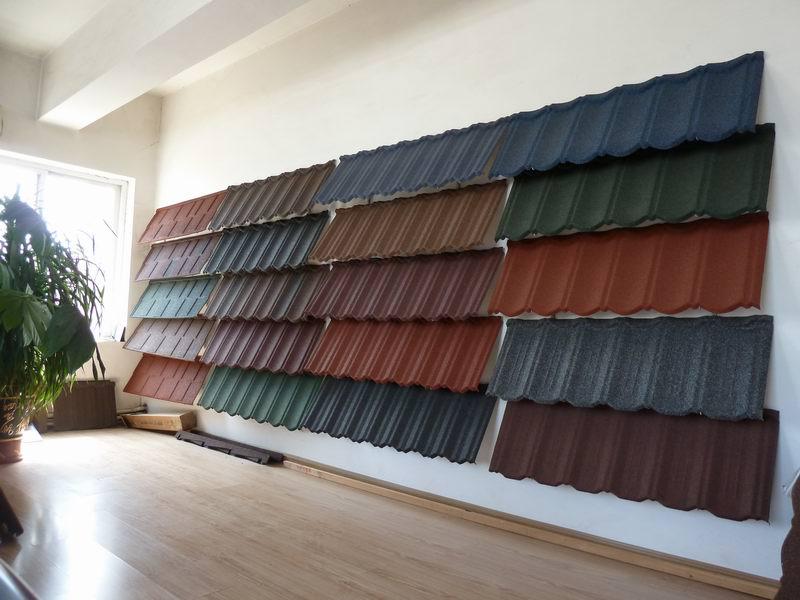 Stone Coated Steel Roofing Tile Dalian New Sunlight