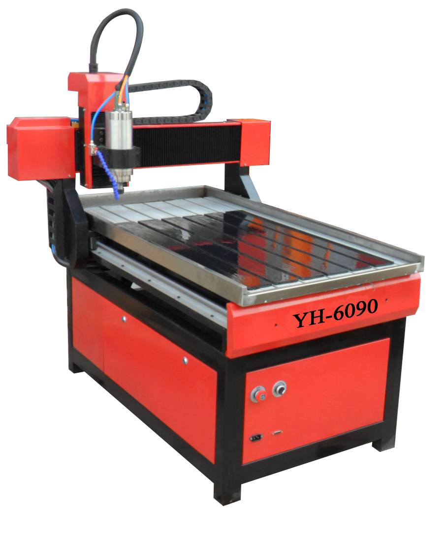 Small cnc router yh 6090 jinan yihai cnc router for Y h furniture trading