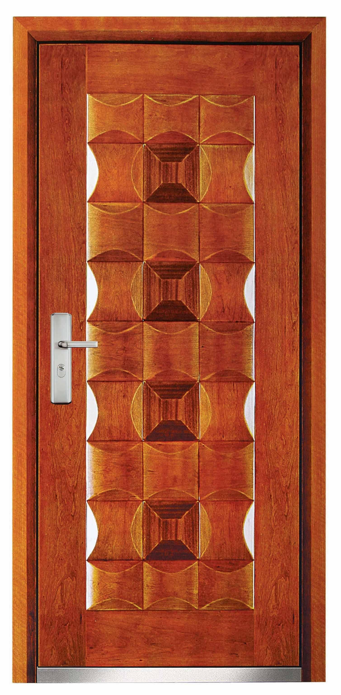 3080 #AC7F1F Steel  Wood Armored Door Jinbiao Industrial Co. Ltd. pic Steel Entry Doors With Steel Frames 47411509