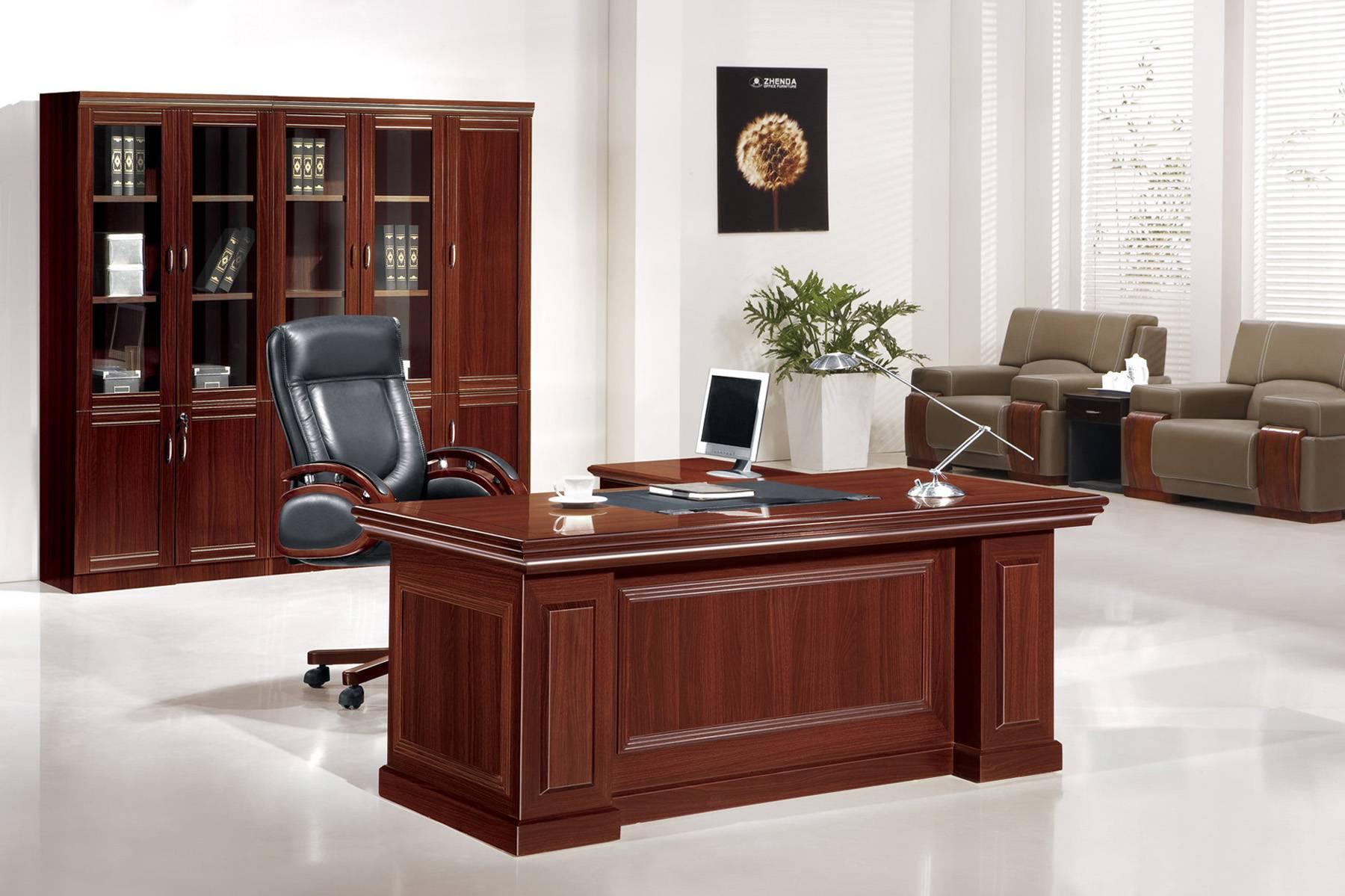 mdf office table in cherry 1810 foshan zhenda